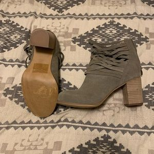 Taupe heeled bootie- Torrid size 11